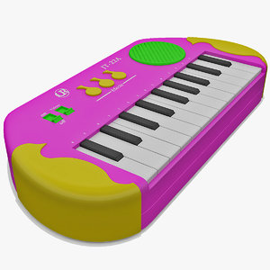 3ds max electronic toy keyboard