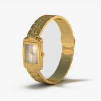 3d model of gold watch