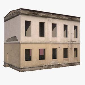 3d model destroyed building
