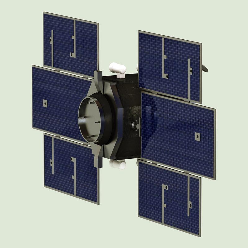 3d model of satellite cloudsat