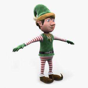 christmas elf 3d max