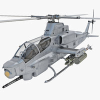 bell ah-1z viper rigged 3d model