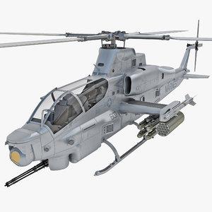 bell ah-1z viper rigged 3d model