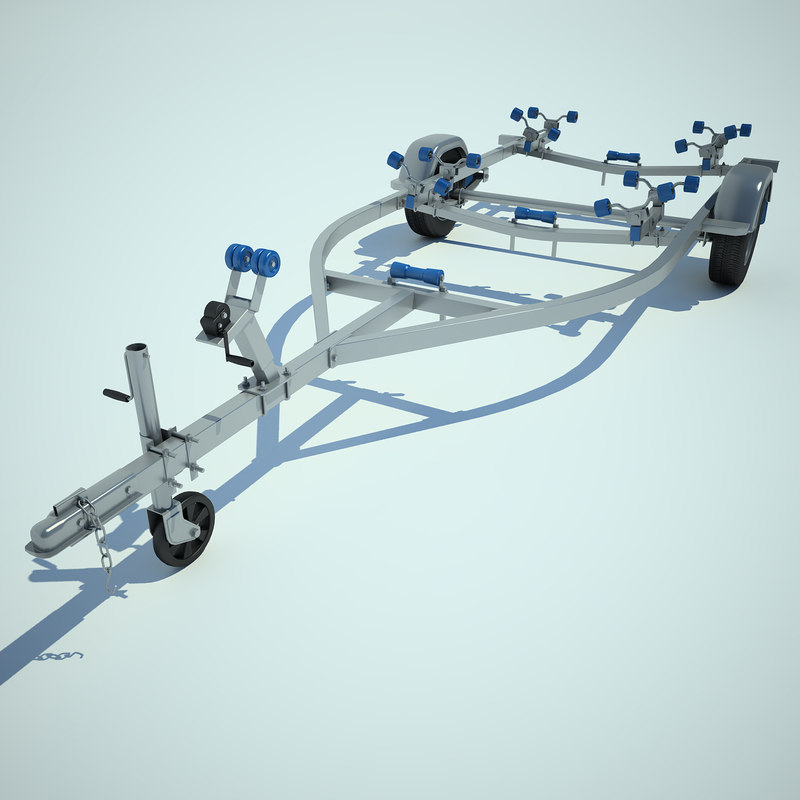 3d model yacht trailer