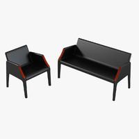 Kartell Magic Hole Sofa & Chair Set