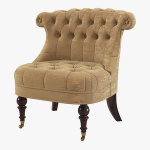 3d chair baker upholstery