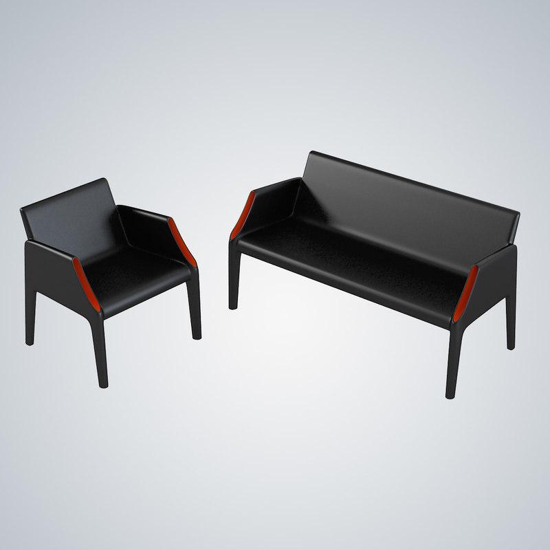 kartell magic hole sofa chair 3d max