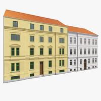 european building facades 3d max