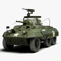 ww2 m8 greyhound armored car 3d model