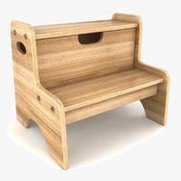3d model step stool tool
