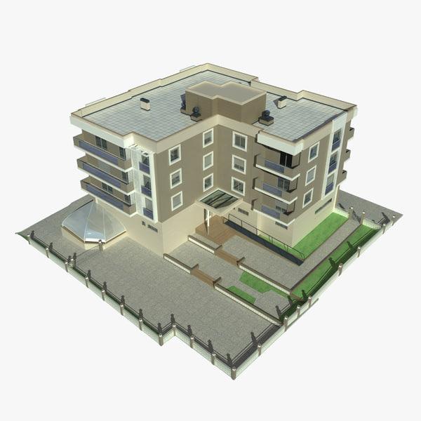 3d apartment building 4