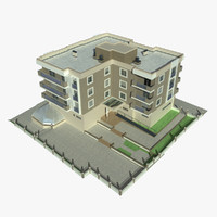 3d apartment building 4