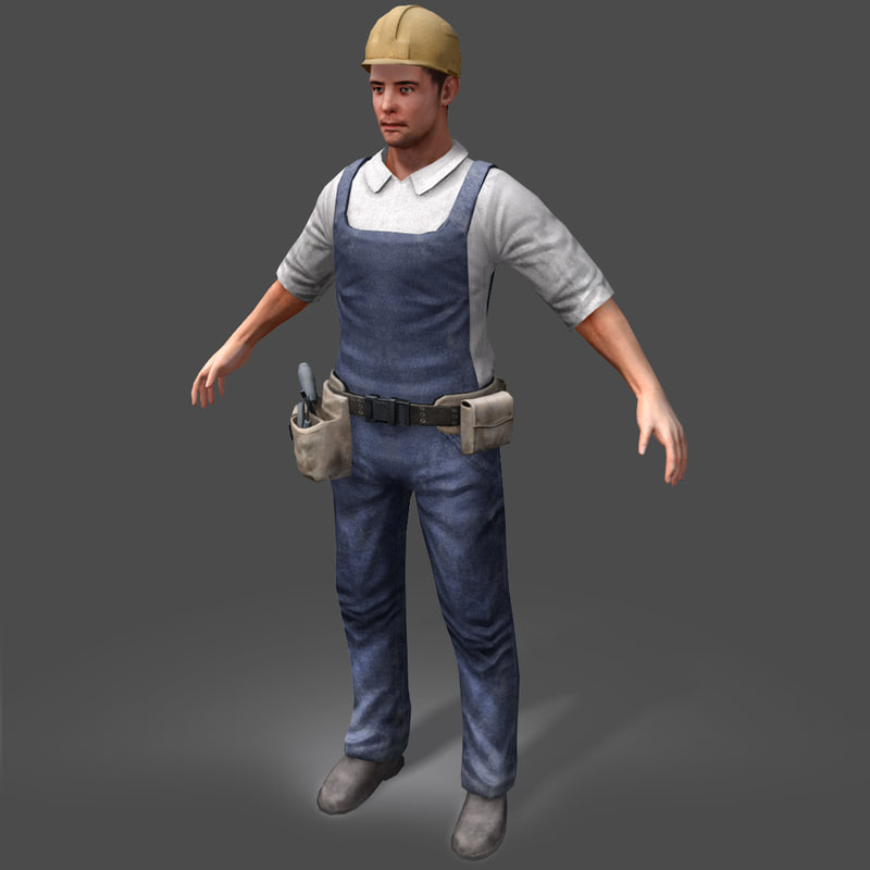 3d model worker real-time