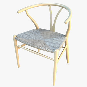 wishbone chair 3d 3ds