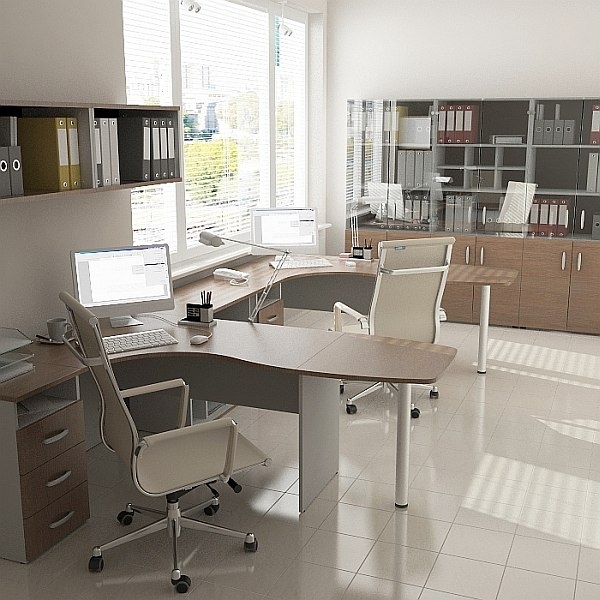 3d max office design furniture for Office table 3d design