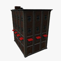 residential building europe 3d obj