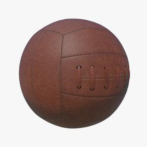 vintage football 3d max