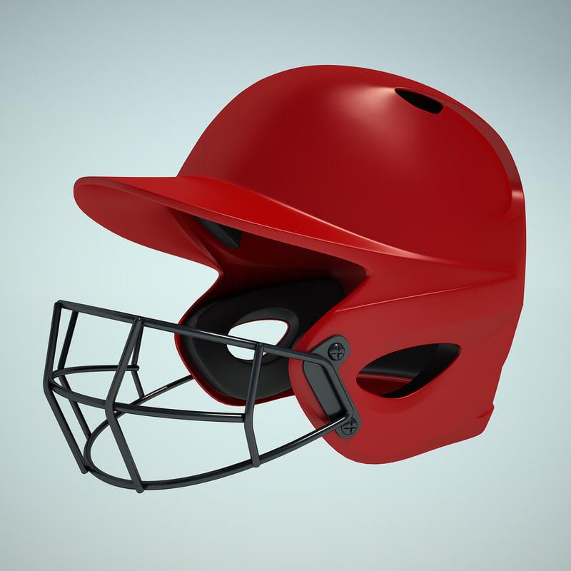 3ds max baseball helmet