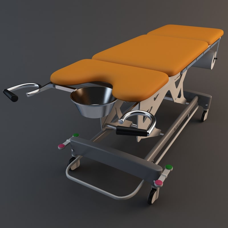 3d model lojer gynecological chair