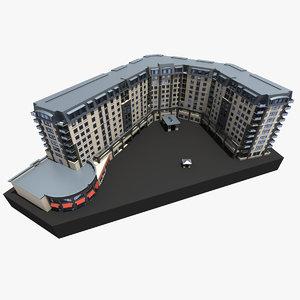 3d model hotel building