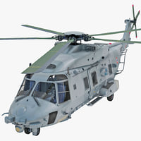 NHIndustries NH90 Military Helicopter Rigged