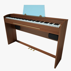 3d model piano casio