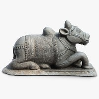 3ds max sculpture indian cow india