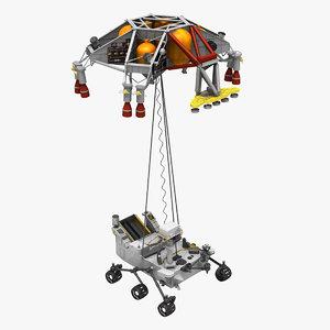 max msl curiosity skycrane land rover