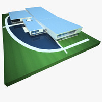 sports arena complex centre 3d 3ds