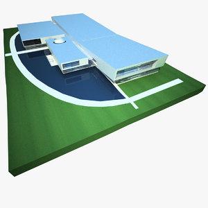 sports arena complex centre 3d 3ds