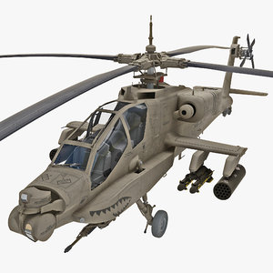 ah-64 apache helicopter 3d model