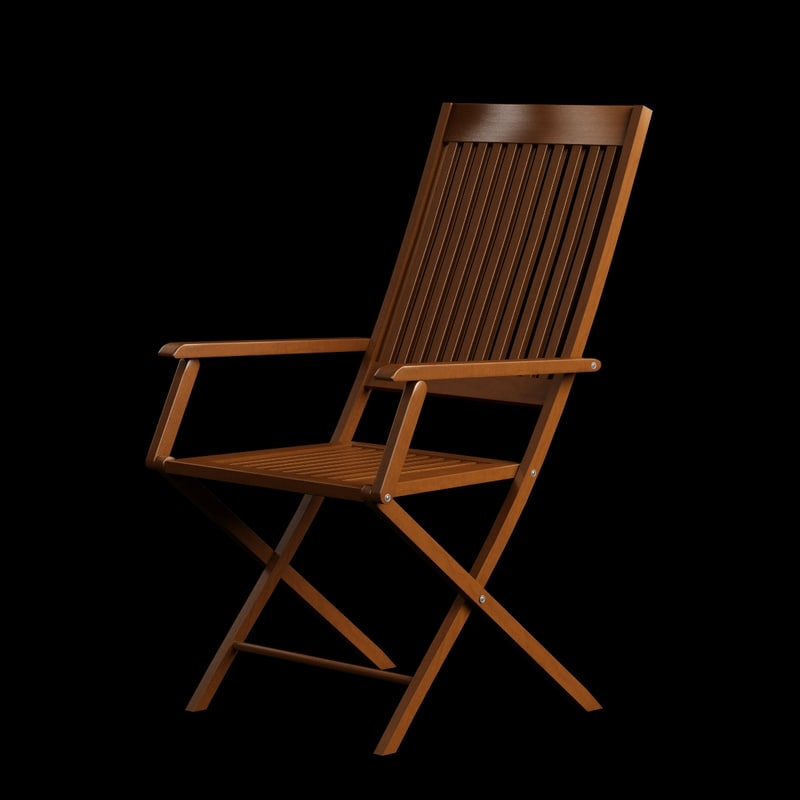 3d model wooden chair arm wood