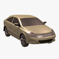 standar sedan car 3d max