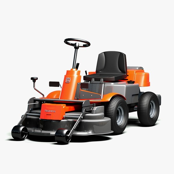 3d model husqvarna rider lawn mower