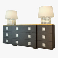 3d model flexform mood chest