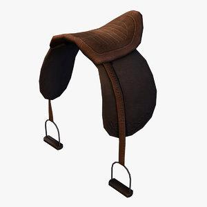 medieval saddle 3d 3ds