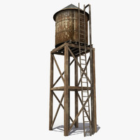 Old Wooden Water Tower