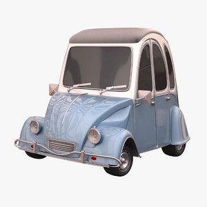 3d citroen 3cv car model