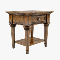 3d classical style end table