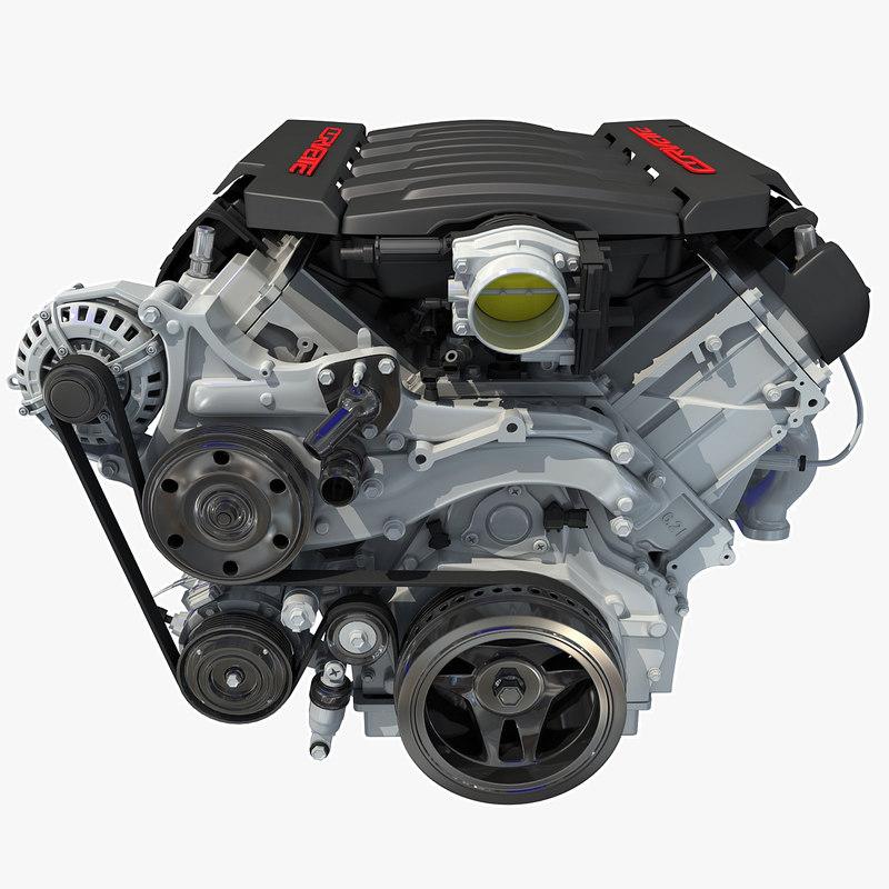 2014 chevrolet corvette v8 engine 3d model