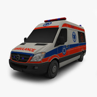 3ds max mercedes benz ambulance car