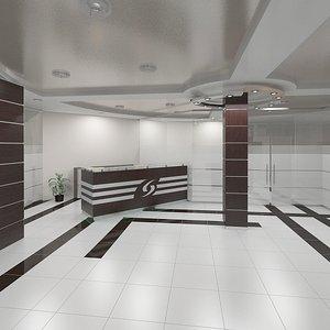 hall reception scene 3d max