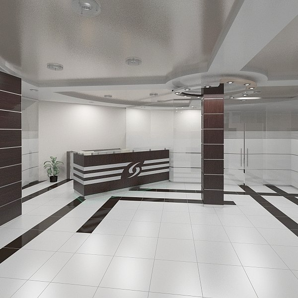 hall reception scene 3d max