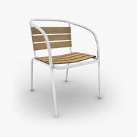 metal garden chair 3d 3ds