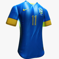 3d model realistic brazil soccer jerseys