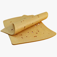 sliced cheese 3d model
