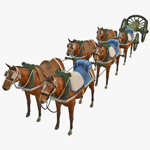 gribeauval caisson horses 3d max