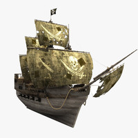 ship old pirate 3d model