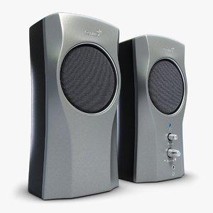 music speakers genius 2 3d max