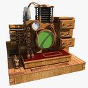 steampunk radio 3D models